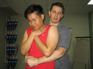 Helping a choking victim