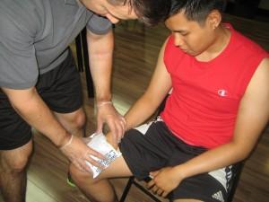 Wrist Injury - Applying Ice